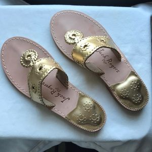 NEW Jack Rogers Hampton sandals - gold